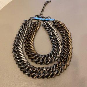LAFAYETTE 148 New York 3 tone oversize link chain